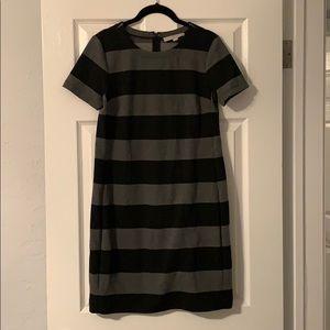LOFT striped shift dress
